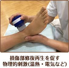 損傷部修復再生を促す 物理的刺激(温熱・電気など)